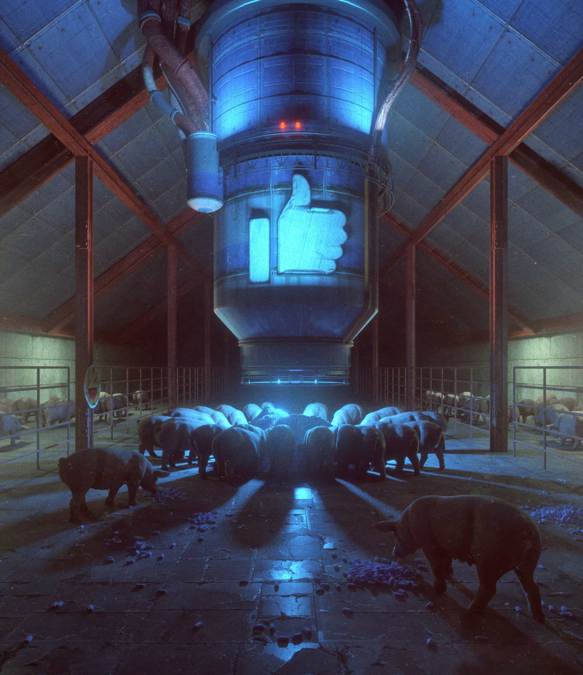 News Feed, by Beeple